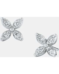 Kwiat - 'sunburst' Diamond Stud Earrings - Lyst