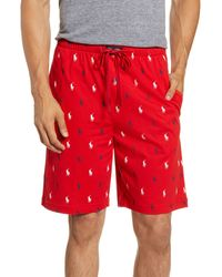 Polo Ralph Lauren Knit Pajama Shorts - Red