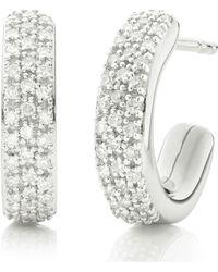 Monica Vinader - Fiji Mini Hoop Diamond Earrings - Lyst