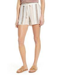 Caslon - Caslon Stripe Linen Blend Drawstring Shorts - Lyst