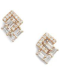 Dana Rebecca - Dana Rebecca Sadie Interlock Diamonds Stud Earrings - Lyst