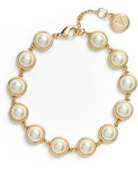 Vince Camuto - Imitation Pearl Bracelet - Lyst