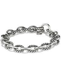 David Yurman Medium Oval Link Bracelet - Metallic