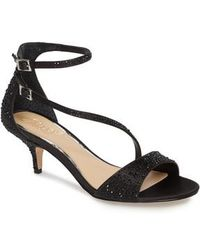 Badgley Mischka | Tangerine Crystal Embellished Sandal | Lyst