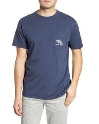 Vineyard Vines Flowers In Paradise Pocket T-shirt - Blue