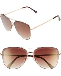 Sam Edelman 53mm Aviator Sunglasses - Metallic