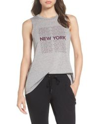 David Lerner | New York High/low Muscle Tank | Lyst