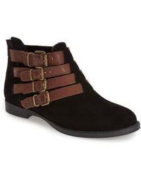 Bella Vita   'Ronan' Buckle Leather Bootie   Lyst
