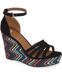 BP. Scarlette Wedge Sandal - Black