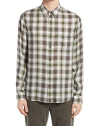 Vince - Plaid Twill Button-up Shirt - Lyst