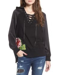 True Religion - True Religion Lace-up Pullover - Lyst