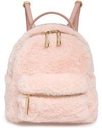 mali + lili Mali + Lili Gemini Faux Fur & Vegan Leather Convertible Backpack - Pink