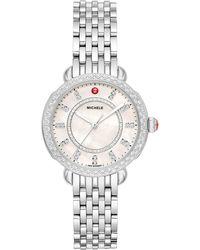 Michele Sidney Classic Diamond Watch Head & Interchangeable Bracelet - Metallic