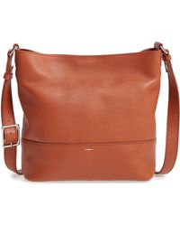 Shinola - Small Relaxed Leather Hobo Bag - - Lyst
