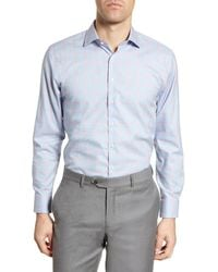Nordstrom - Trim Fit Non-iron Windowpane Dress Shirt - Lyst