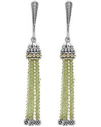 Lagos | Caviar Icon Tassel Drop Earrings | Lyst