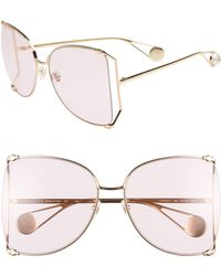 Gucci - 63mm Gradient OverGold/ Light Pink - Lyst