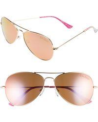 0b8f88d17ac5 Lilly Pulitzer - Lilly Pulitzer Lexy 59mm Polarized Aviator Sunglasses -  Lyst