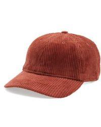 Madewell - Corduroy Baseball Cap - Burgundy - Lyst