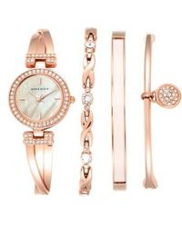 Anne Klein - Boxed Bracelet & Bangle Watch Set - Lyst