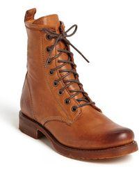 Frye Veronica Combat Boot - Brown