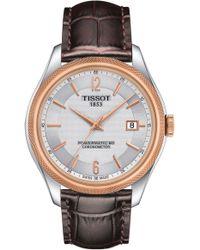 Tissot - Ballade Powermatic 80 Chronometer Leather Strap Watch - Lyst