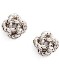 Tory Burch - Rope Knot Stud Earrings - Lyst