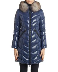 Moncler - Fulmarus Quilted Down Puffer Coat With Removable Genuine Fox Fur Trim - Lyst