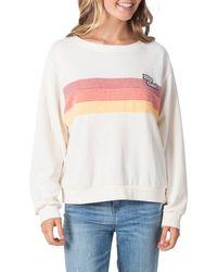Rip Curl Revival Stripe Sweatshirt - White