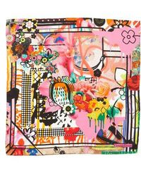 Christian Lacroix - Floral Silk Scarf - Lyst