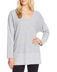 Vince Camuto - Ribbed Detail Tunic Sweater - Lyst