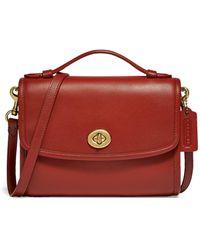 COACH Kip Leather Crossbody Bag - Red