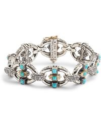 Konstantino - Trillion Chain Link Stone Bracelet - Lyst