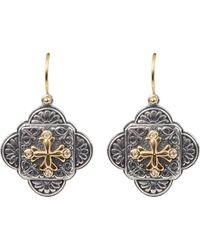 Konstantino - Diamond Clover Drop Earrings - Lyst
