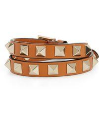 Valentino - Rockstud Double Wrap Bracelet - Lyst