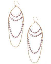Serefina - Beaded Chandelier Drop Earrings - Lyst