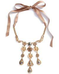 Badgley Mischka - Crystal & Freshwater Pearl Collar Necklace - Lyst