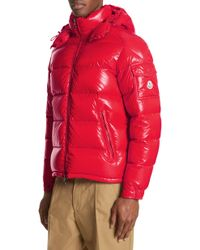 d51ca57a2505 Moncler  maya  Padded Jacket in Red for Men - Lyst
