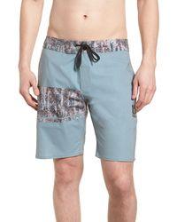 Volcom 3 Quarta Stoney Board Shorts - Blue