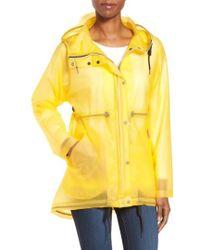 Hunter | 'original Smock' Hooded Drawstring Waterproof Jacket | Lyst