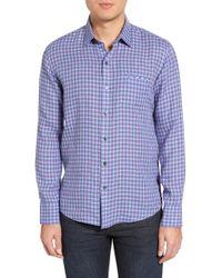 Zachary Prell - Althoff Regular Fit Plaid Linen Sport Shirt - Lyst