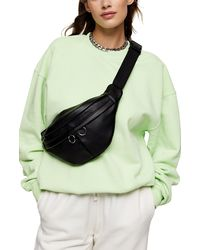 TOPSHOP Green Stonewash Sweatshirt