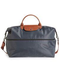 Longchamp 'le Pliage' Expandable Travel Bag - Metallic