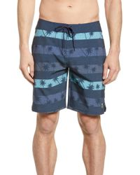 Travis Mathew Ss Minnow Board Shorts - Blue