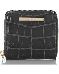 Brahmin Mini Suri Embossed Leather Wallet - Black
