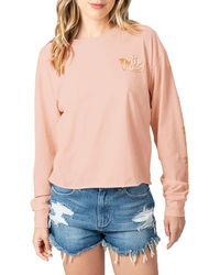 Rip Curl Under The Palms Long Sleeve Graphic Tee - White