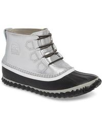 Sorel 'out N About' Leather Boot - Red