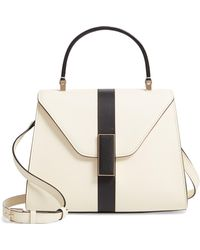 Valextra Mini Iside Top Handle Bag - White
