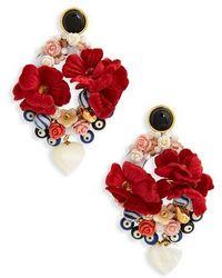 Lizzie Fortunato - Gardenia Earrings - Lyst