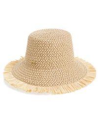 Lyst - Eric Javits Tiki Bucket Hat in Black 0693963a427b